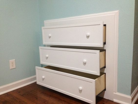 Need More Space In Your Small Room? Consider Building One Of These Built-In Dressers